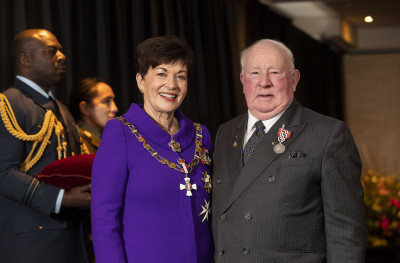 Image of Bruce Russell, of Christchurch, QSM, for services to the community