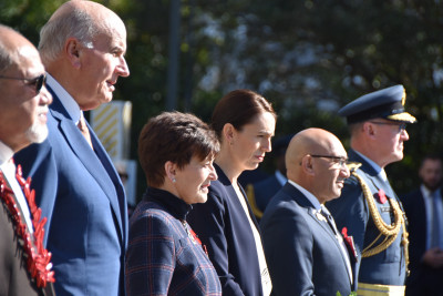 Dame Patsy Reddy, Sir David Gascoigne, Rt Hon Jacinda Ardern, Hon Ron Mark, Ari Marshal Kevin Short