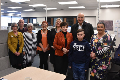 Image of Dame Patsy meeting some of the Pike River families