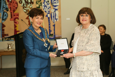 Mrs Liz Herrmann, of Auckland, MNZM (Honorary) for services to the hospitality industry and philanthropy