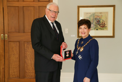 Mr Morris McFall, of Mt Maunganui, QSM for services to the community and philanthropy