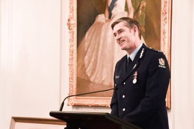 Image of NZ Police Commissioner Andrew Coster speaking