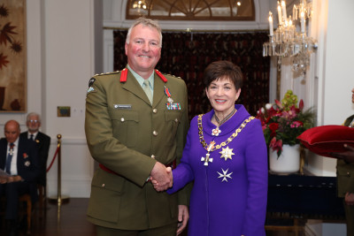 Image of Brigadier Michael Shapland, DSD, for services to the New Zealand Defence Force