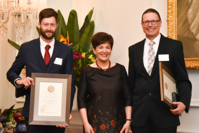Weatherall and Professor Mark Holliday - Health Research Council Liley Medal