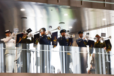 Image of trumpeters at the Prime Ministers reception