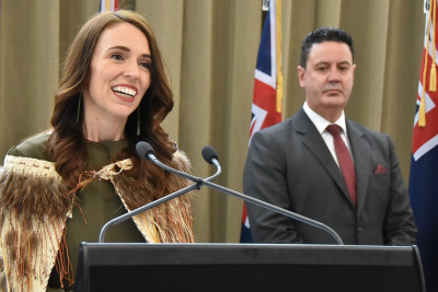 Image of the Prime Minster speaking at the reception following the State Opening