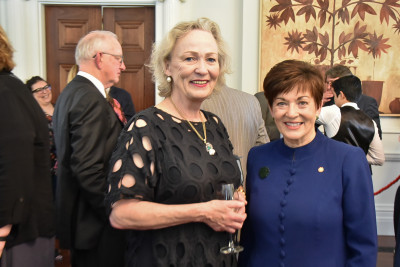 Image of Dame Patsy with Wellington City Councillor Nicola Young