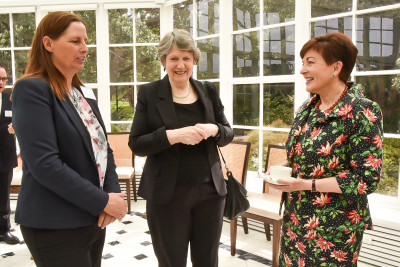 Katie Milne, the Rt Hon Helen Clark and Dame Patsy