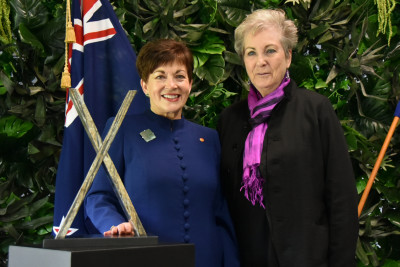 Dame Patsy Reddy and Dame Anna Crighton