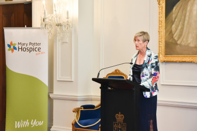 Image of Mary Potter Hospice patron Dame Kerry Prendergast speaking