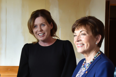 Dame Patsy with Melissa Vining, Board Member of the Southland Charity Hospital
