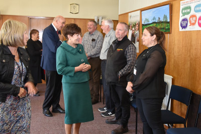 Dame Patsy and Sir David meeting members of the Community Networking Trust