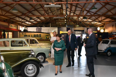 Their Excellencies inside the Transport Museum
