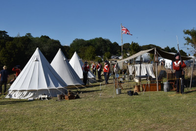 Image of a re-enactment of the British encampment
