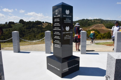 Image of the memorial to the fallen British troops at the Battle of Te Ruapekapeka