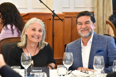 Images of guests at the Diplomatic Corps luncheon
