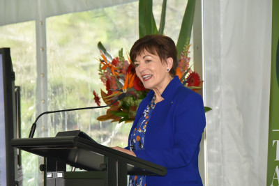 Dame Patsy addressing the forum