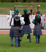 Image of pipers ready to turn