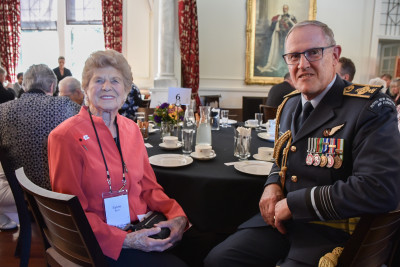 Image of Chief of Defence Force Kevin Short and Sylvie Burr