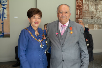 Mr James Doherty and Dame Patsy Reddy