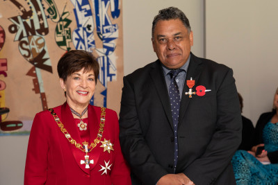 Image of Mr Joe Davis, of Whitianga, MNZM, for services to Māori and conservation
