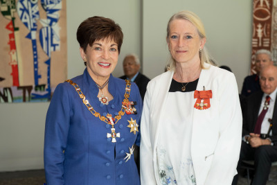 Dr Sally-Ann Harbison and Dame Patsy Reddy