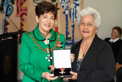 The late Mr William Kerrison, Dame Patsy Reddy