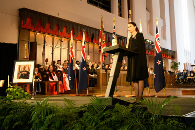 The Prime Minister, The Rt Hon Jacinda Ardern delivering a reading