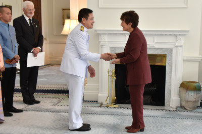 HE Mr Pornpop Uampidhaya and Dame Patsy Reddy