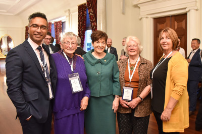 Image of Dame Patsy with Deputy Mayor Josh Wharehinga, Jan Calder, Raewynne Cook and Dorothy McCulloch from Gisborne District Council Sister Cities.
