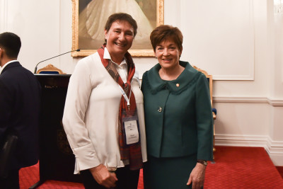 Image of Dame Patsy with Mayor of Opotiki Lyn Riesterer