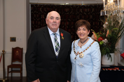 Image of Mr Denis Aitken, of Outram, ONZM, for services to the dairy industry and the community