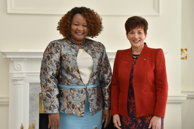 Dame Patsy with HE Ms Dorcas Makgato, High Commissioner of the Republic of Botswana