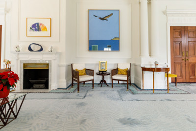 Image of a Don Binney painting in the Blundell Drawing Room