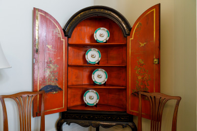 Image of the japanned cupboard in Fitzroy