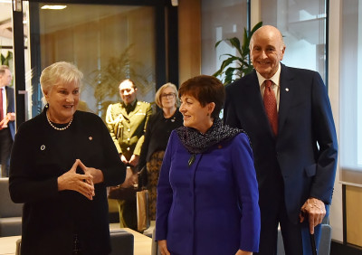 Image of Dame Patsy with Dame Annette King at the New Zealand High Commission in Canberra