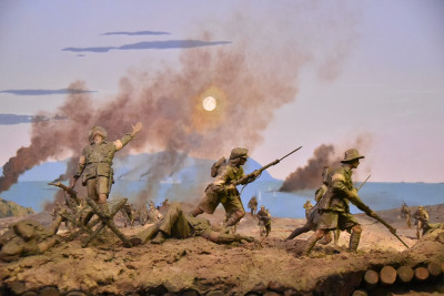 Image of a detail of the diorama