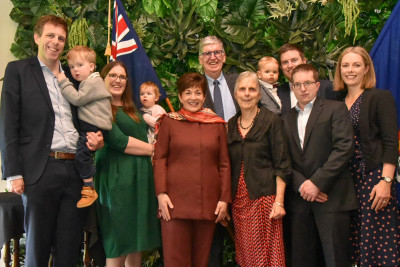 Dame Patsy with the O'Connor family