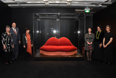 The official party with Salvador Dali's Sofa