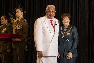 Image of Reverend Tumama Vili, of Christchurch, MNZM, for services to the Pacific community