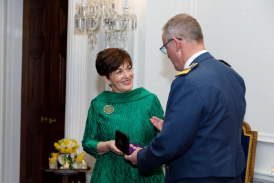Dame Patsy Reddy with AM Kevin Short