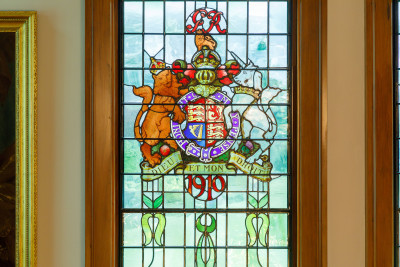 Image of a detail of a stained glass window