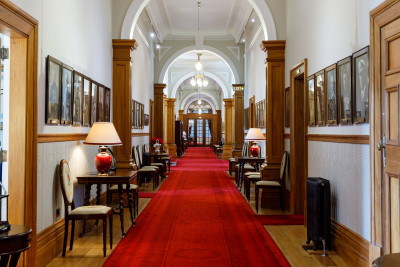 Image of the Main Hallway looking east