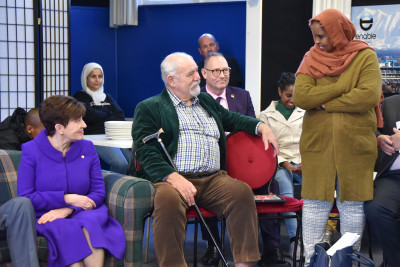 Dame Patsy Reddy at the Canterbury Refugee Resource and Resettlement Centre