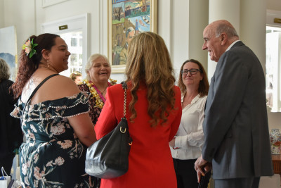 Sir David Gascoigne speaks with Shirley Afoa and her guests