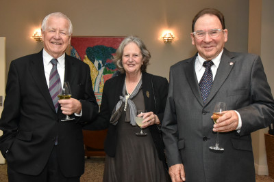 Three guests at Government House Auckland