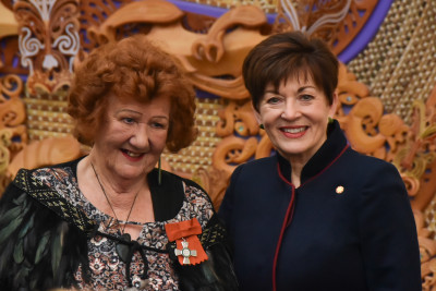 Dame Patsy and Muriel Johnstone, MNZM