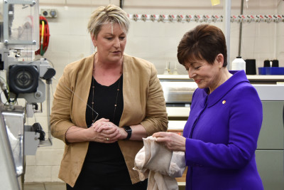 Dame Patsy Reddy and Kim Holden