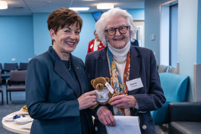 Dame Patsy with Belinda Fitzgerald, the first person ever born at St George's