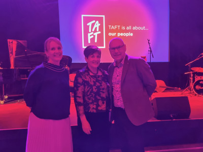 Dame Patsy with Venture Taranaki Deputy Chair Kevin Murphy and CEO Justine Gilliland